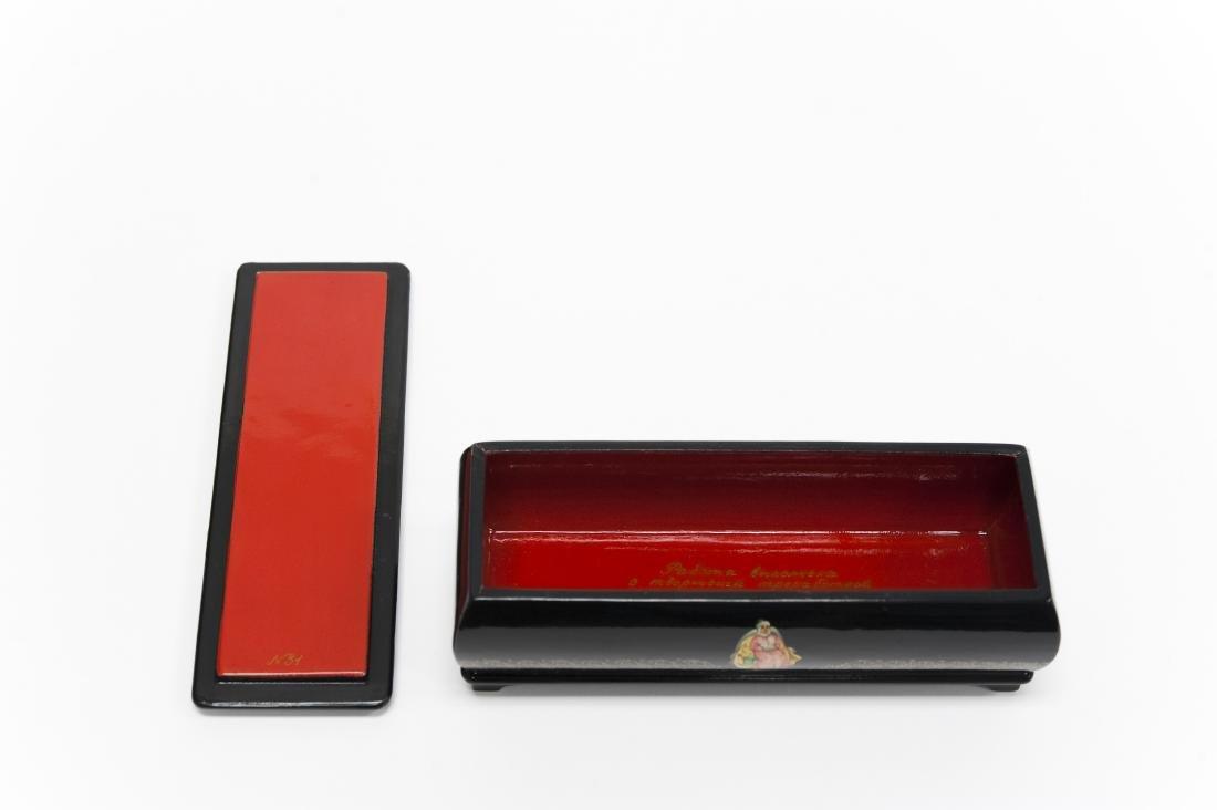 Ivoilova Fedoskino Russian Lacquer Box. - 2