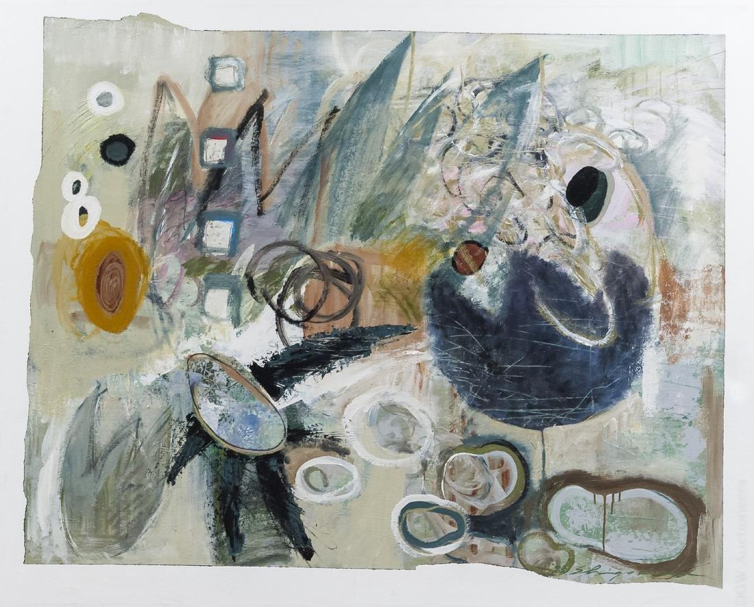 "Shingo Honda Oil on Canvas ""Case #27""."