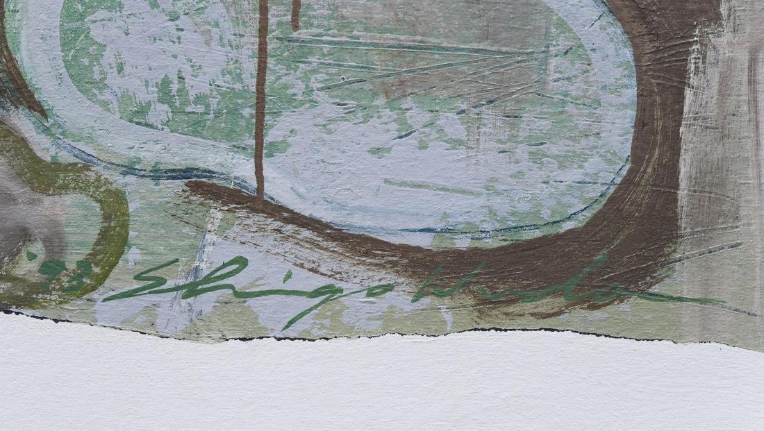 "Shingo Honda Oil on Canvas ""Case #27"". - 2"