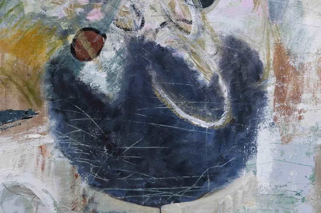 "Shingo Honda Oil on Canvas ""Case #27"". - 3"