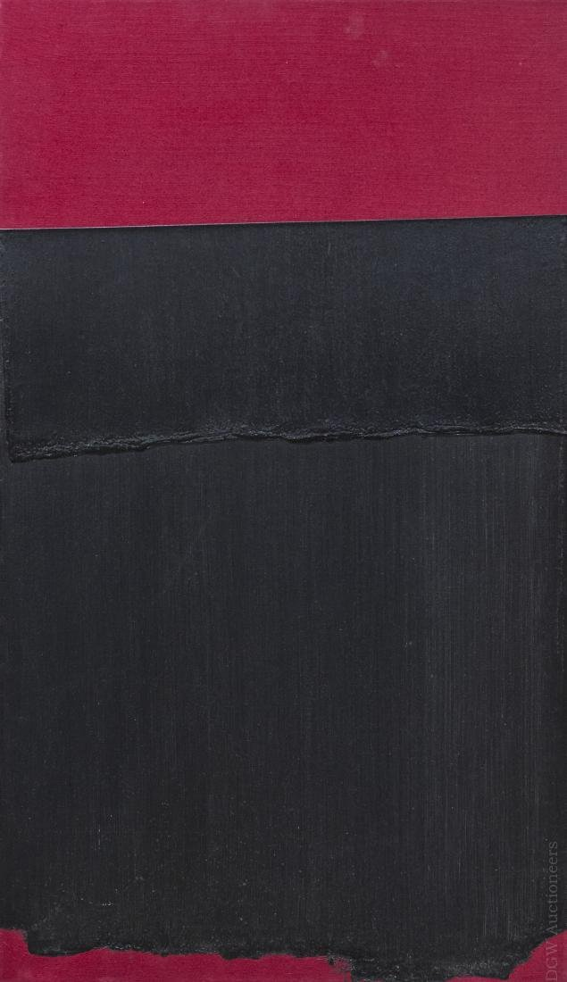 "Bruce Richards Acrylic on Canvas ""Painted Black""."