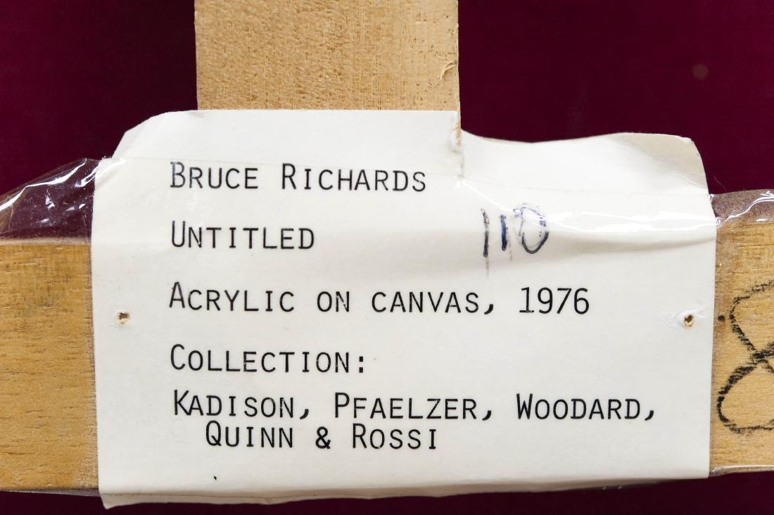 "Bruce Richards Acrylic on Canvas ""Painted Black"". - 5"