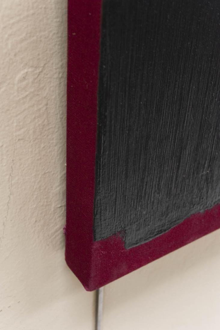 "Bruce Richards Acrylic on Canvas ""Painted Black"". - 8"