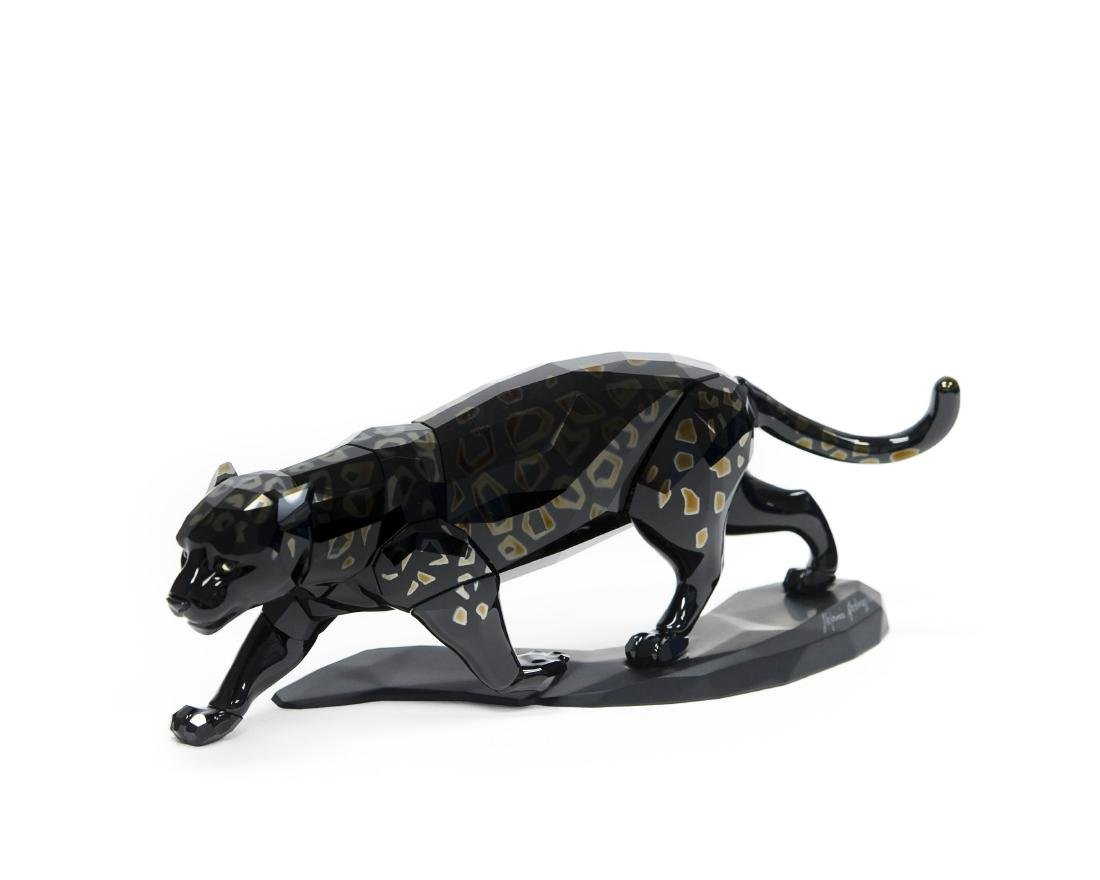 Swarovski Crystal Black Jaguar Figure.