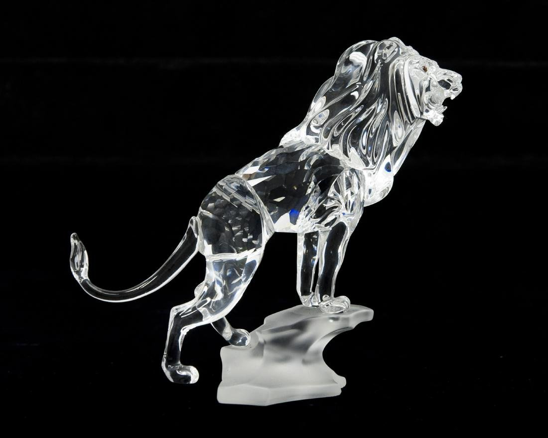 Swarovski Crystal Lion Figure.