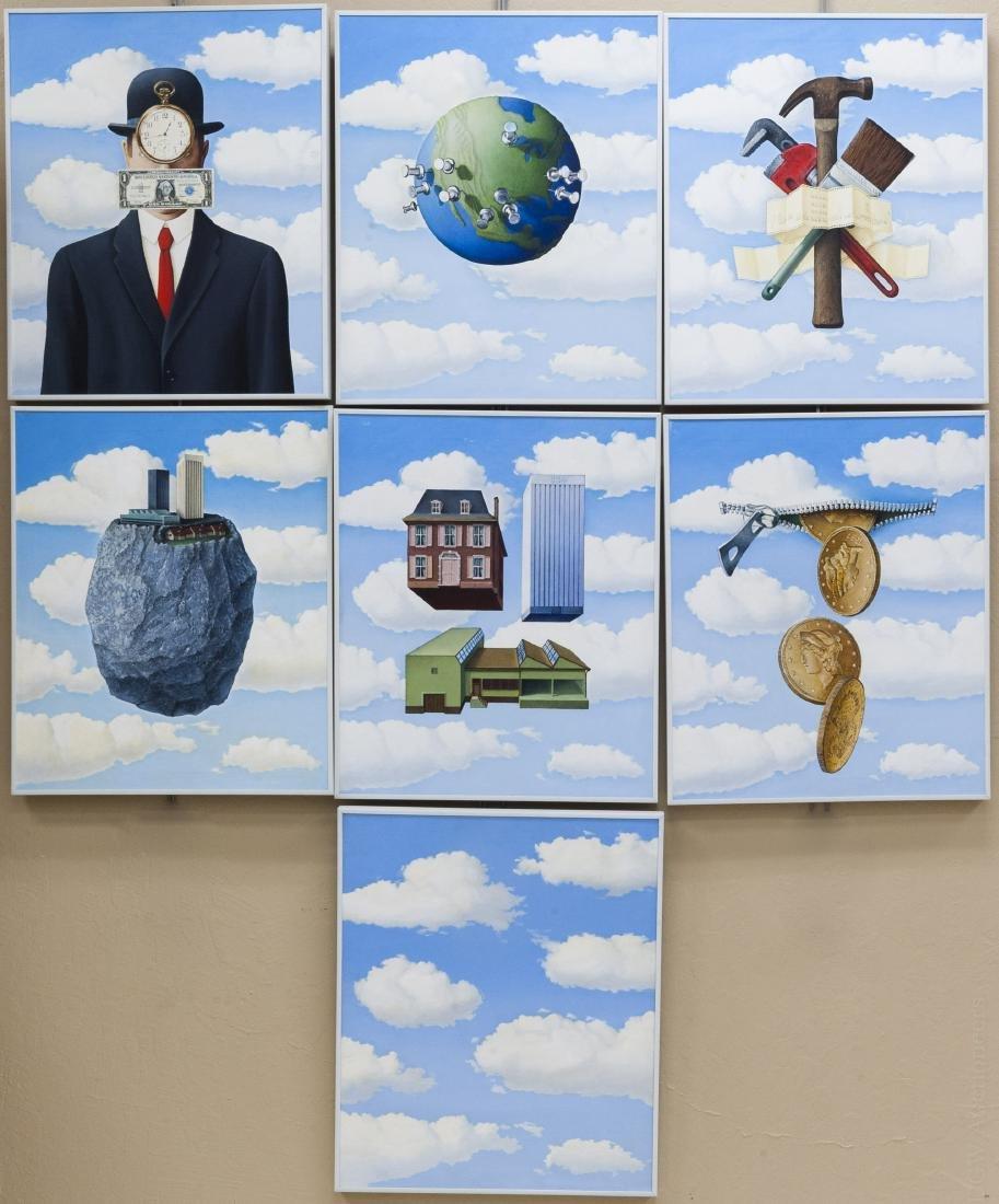 Gary van der Steur, (7) Oils on Canvas.