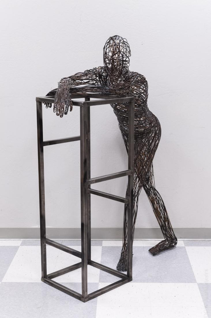 Robert S. Toll Wire Figural Sculpture.