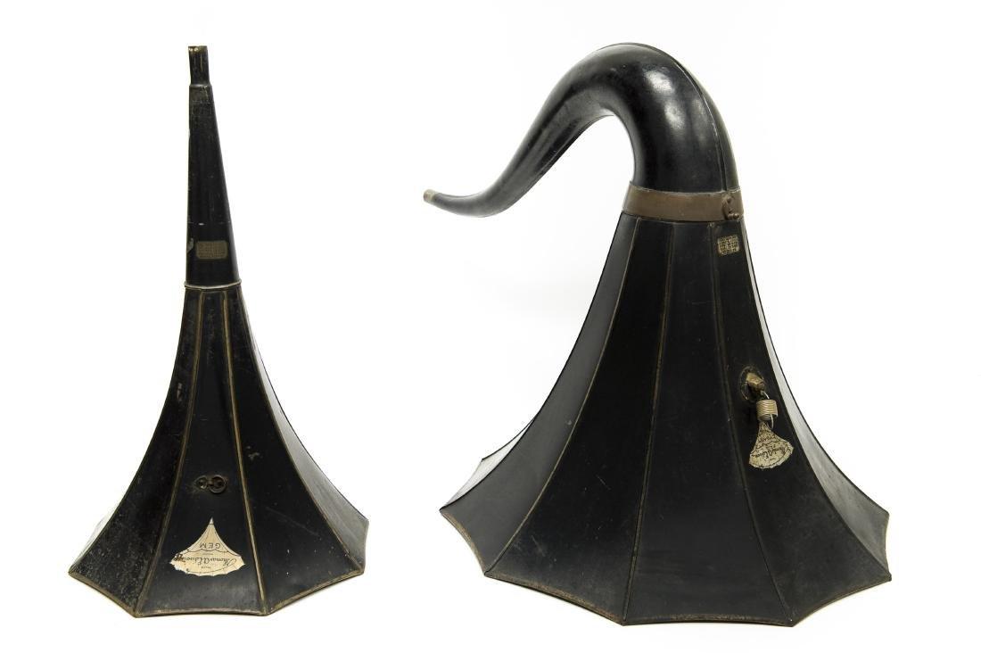 (2) Edison Phonograph Horns.