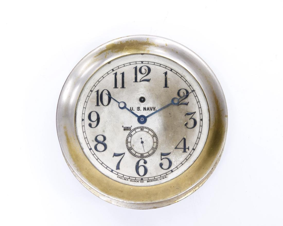 Chelsea U.S. Navy Brass Ship's Clock.
