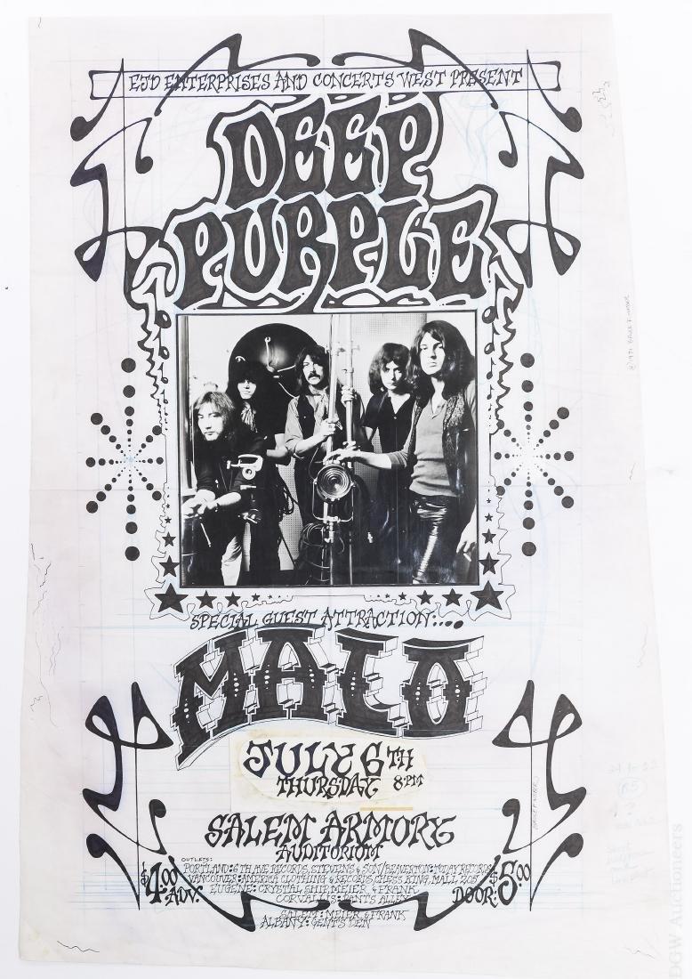 Bruce Weber Deep Purple Concert Poster Art.