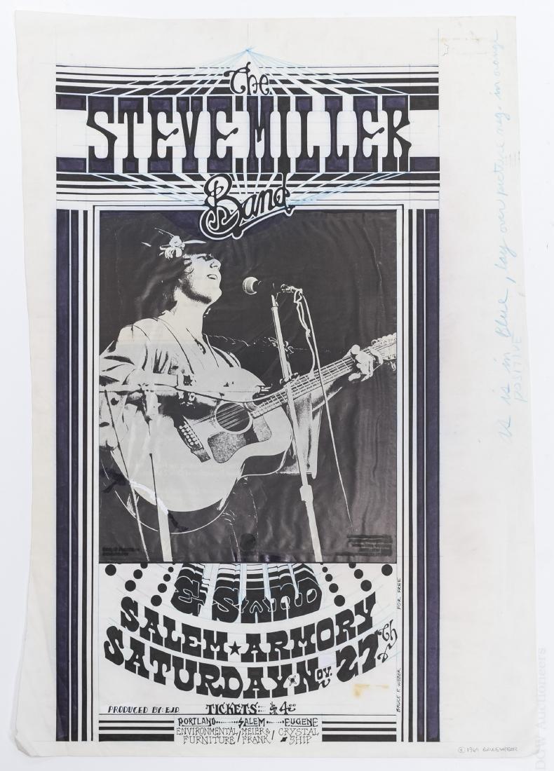 Bruce Weber The Steve Miller Band Concert Poster Art.
