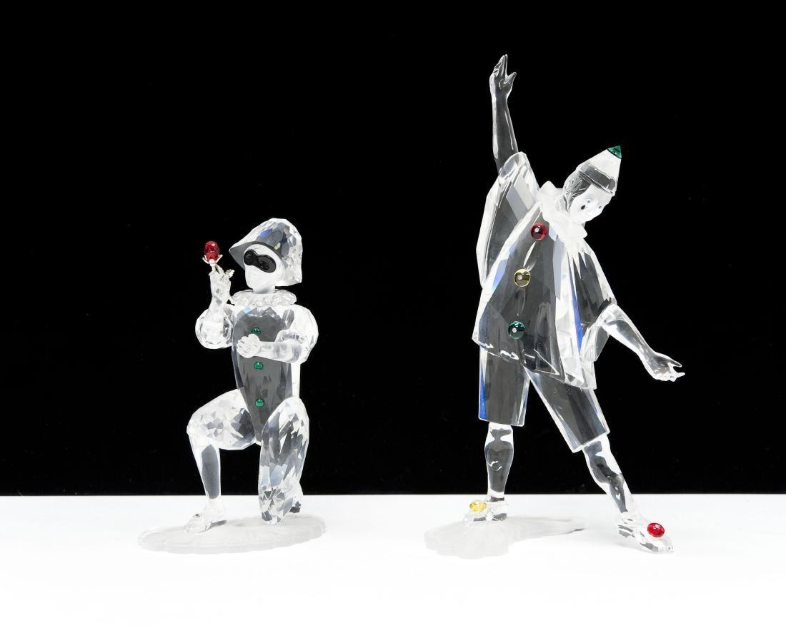 (2) Swarovski Crystal Society Masquerade Figures.