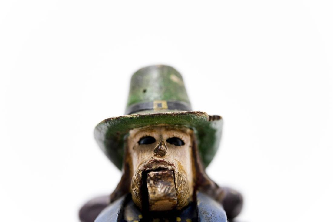 Carved Wood Folk Art Figure of a Camper. - 7