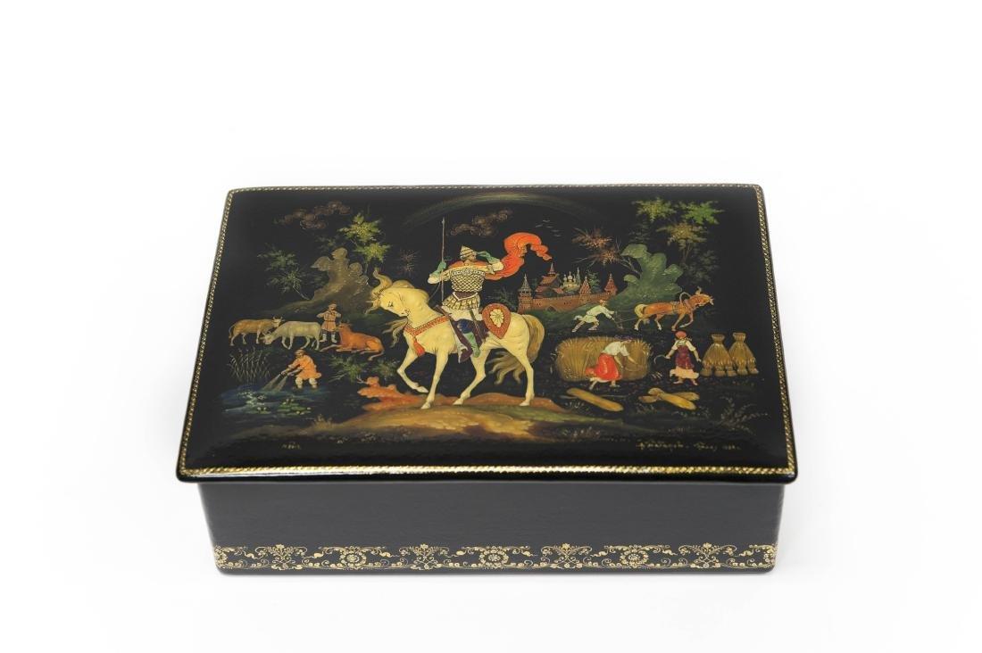 Babanov Palekh Russian Lacquer Box.