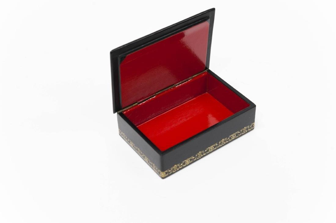Babanov Palekh Russian Lacquer Box. - 5