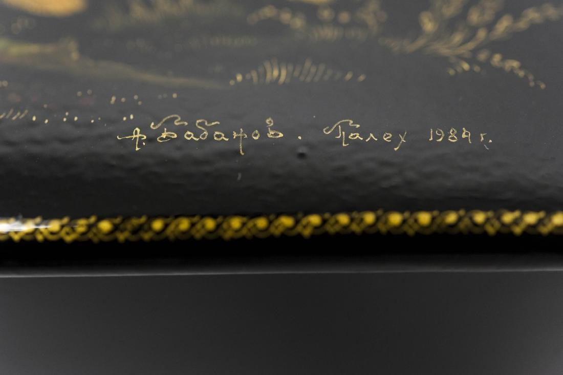 Babanov Palekh Russian Lacquer Box. - 7