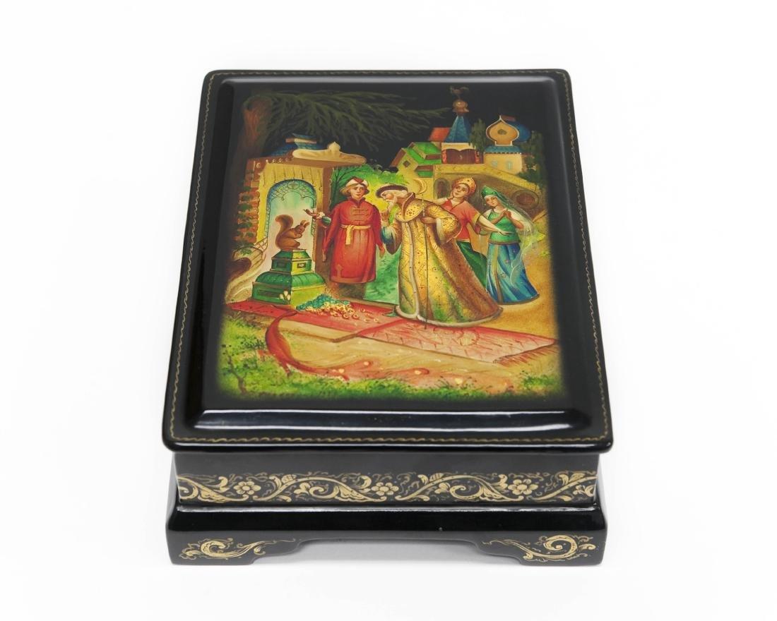 ArzhokovaFedoskino Russian lacquer Box, Magic Squirrel.
