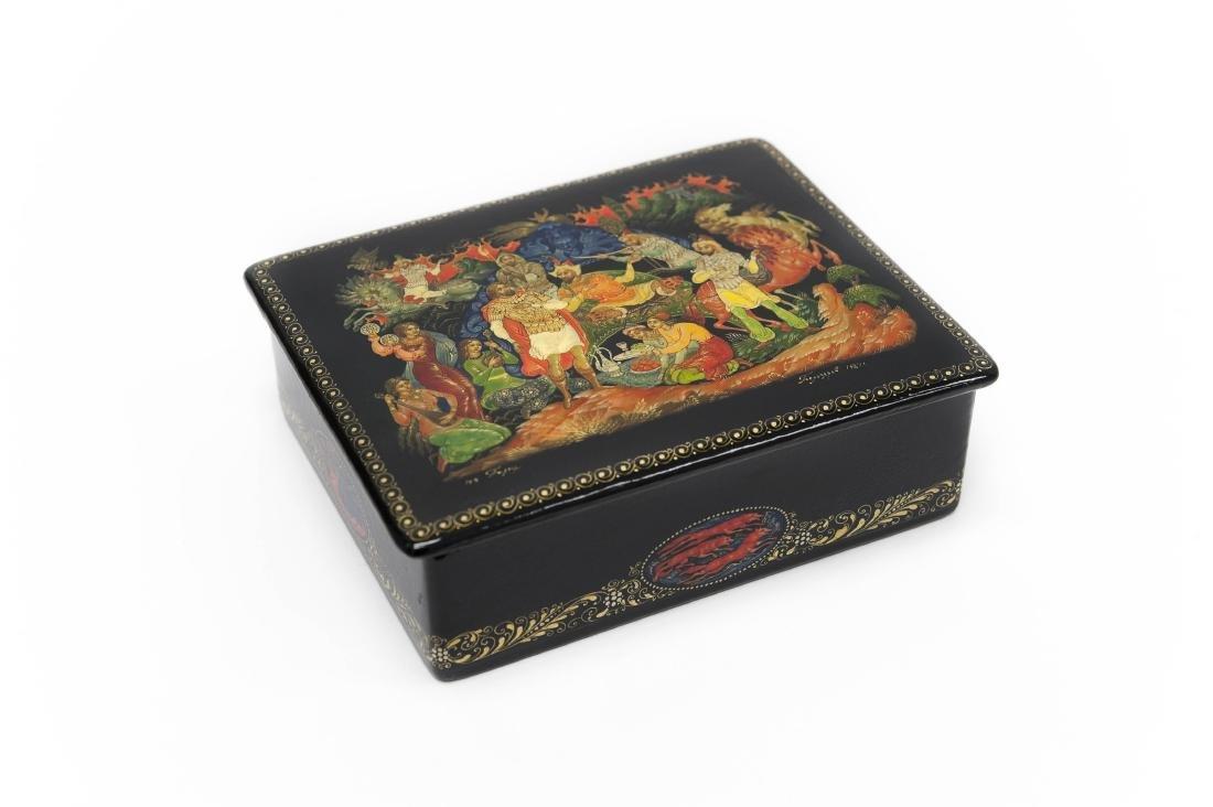 Belozerov Palekh Russian Lacquer Box.