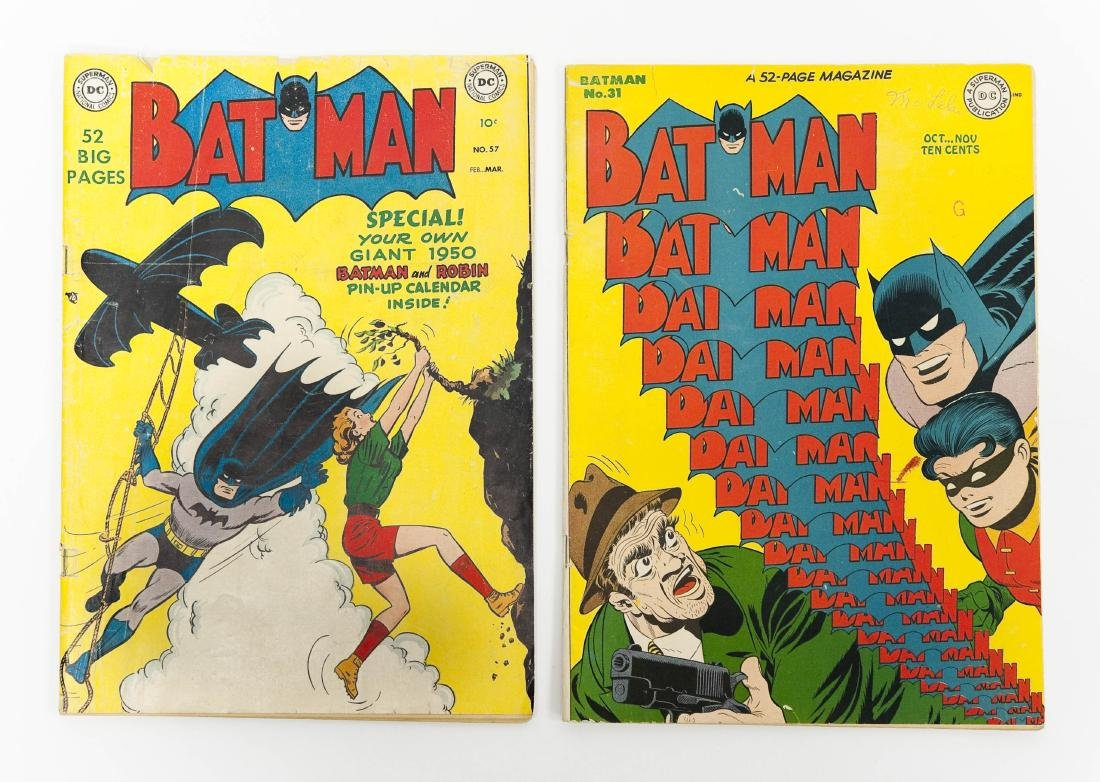 (2) DC Comic Books, Batman No. 31 & No. 57.