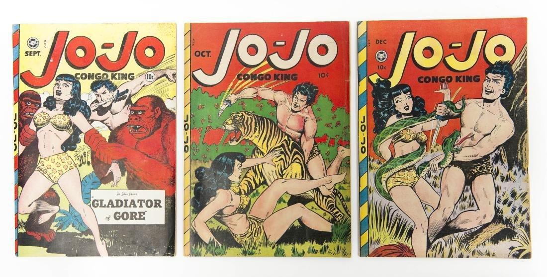(3) Comic Books, Jo-Jo Congo King #19, #20, #22.