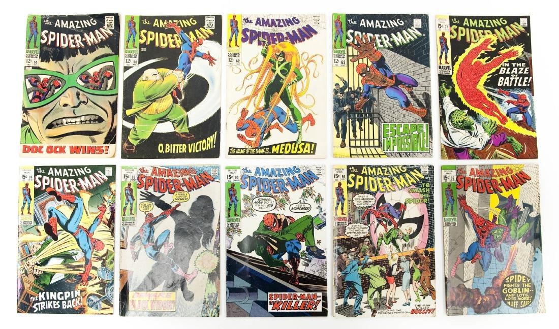 (10) Comic Books, The Amazing Spider-Man.