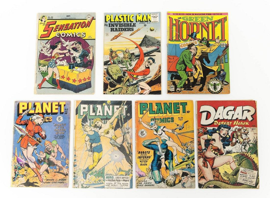 (7) Vintage Comic Books.