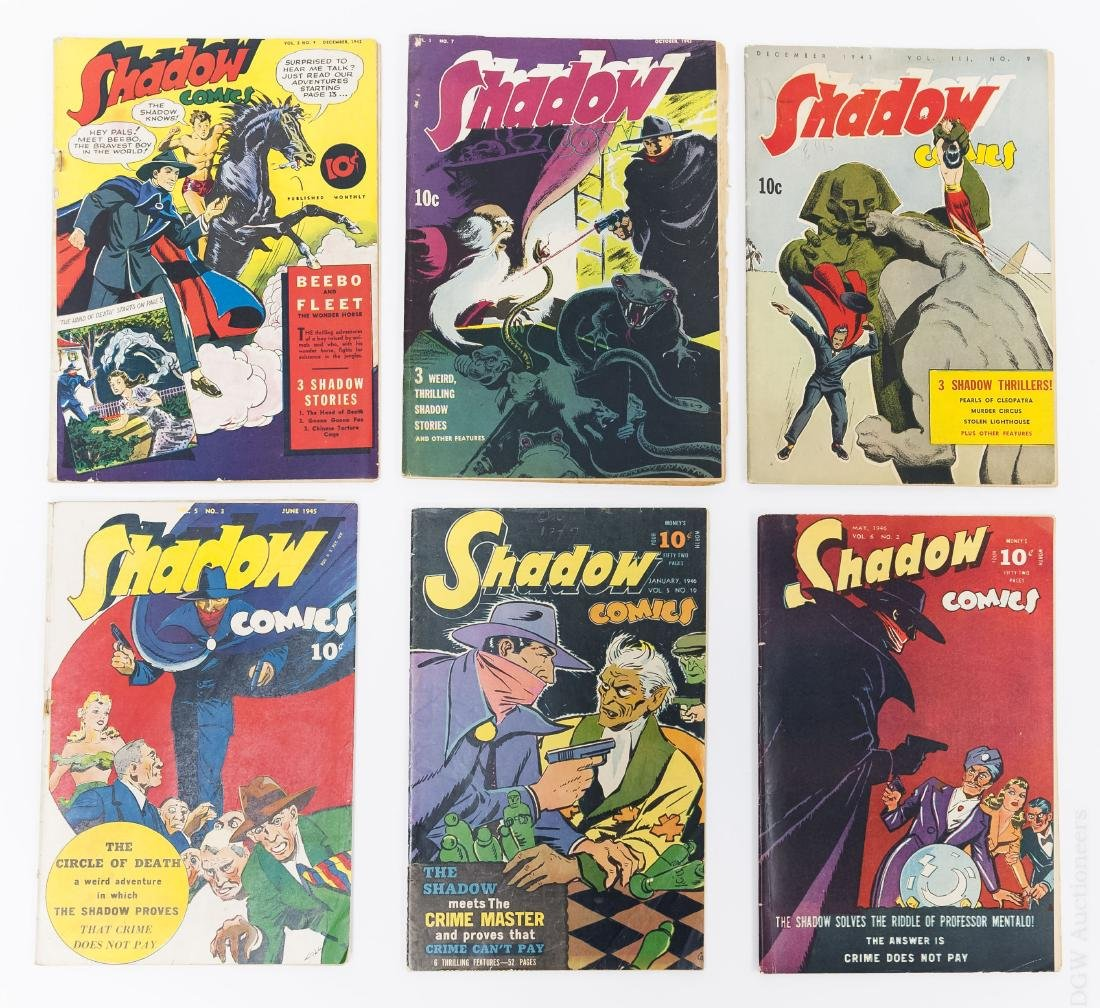 (6) Vintage Shadow Comics.