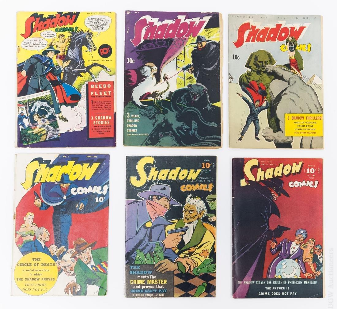 (6) Vintage Shadow Comics.
