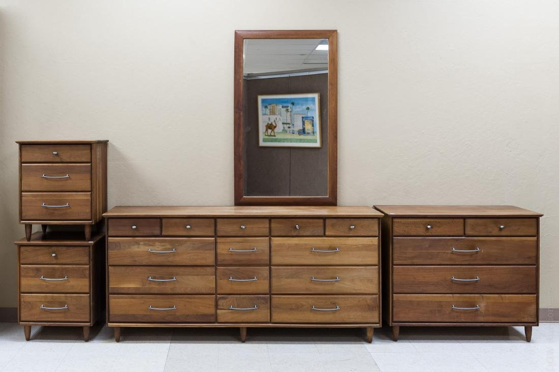 Prelude Ace-Hi Furniture Walnut Bedroom Suite.