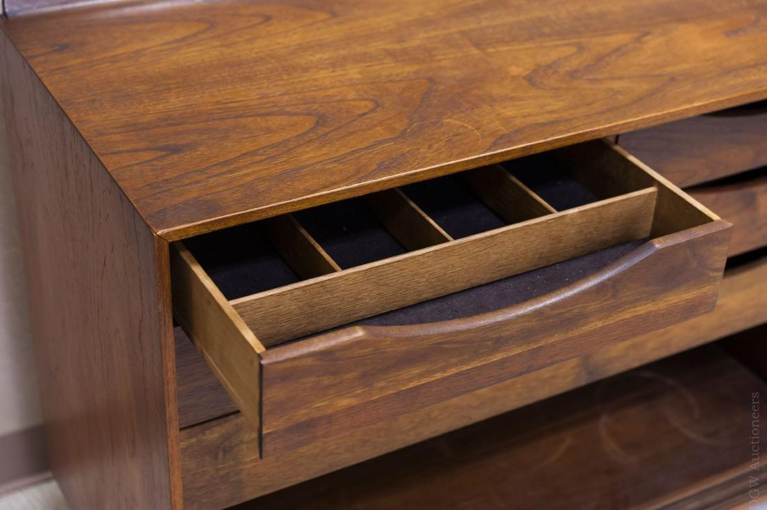 Baker Finn Juhl Design Walnut and Cane Credenza. - 9