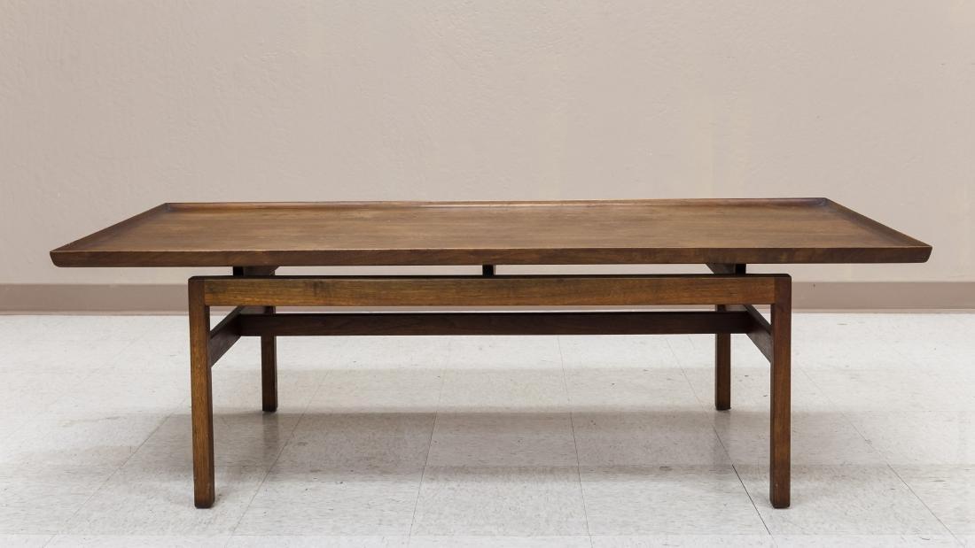 Jens Risom Design Walnut Coffee Table.