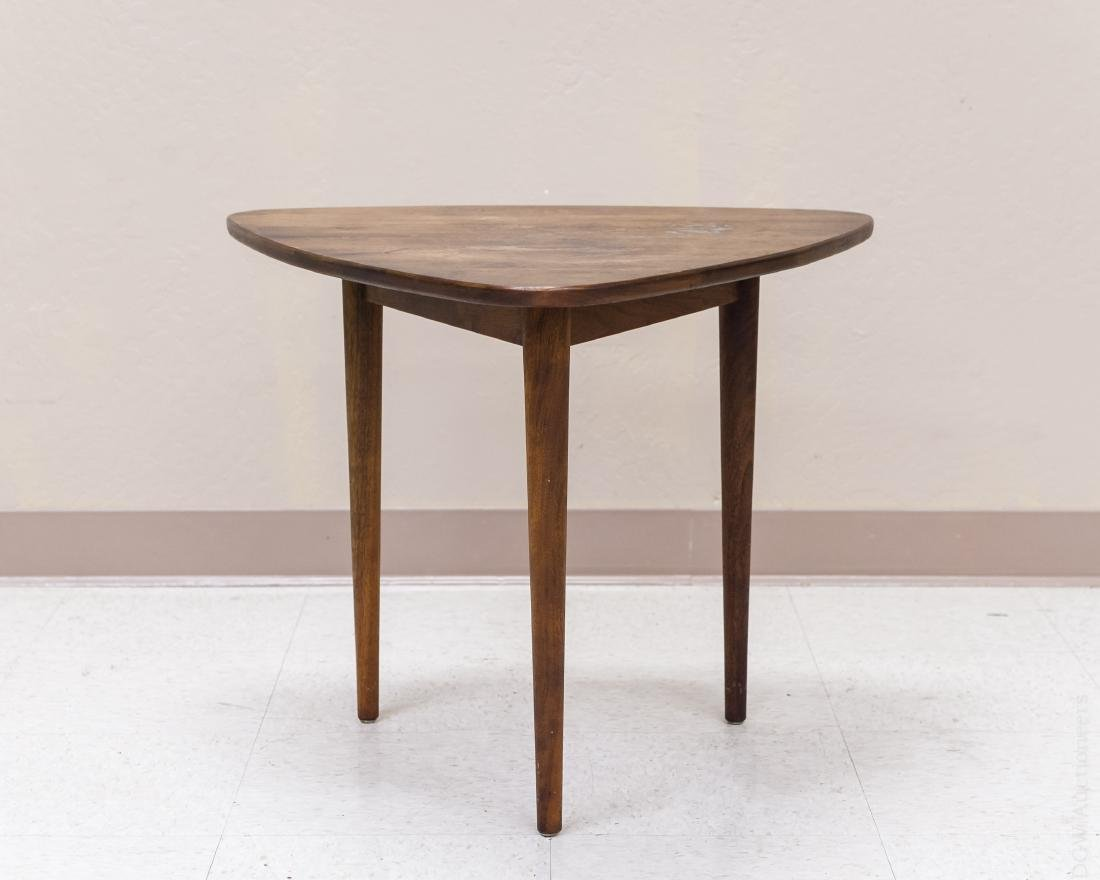 Jens Risom Design Walnut Side Table.