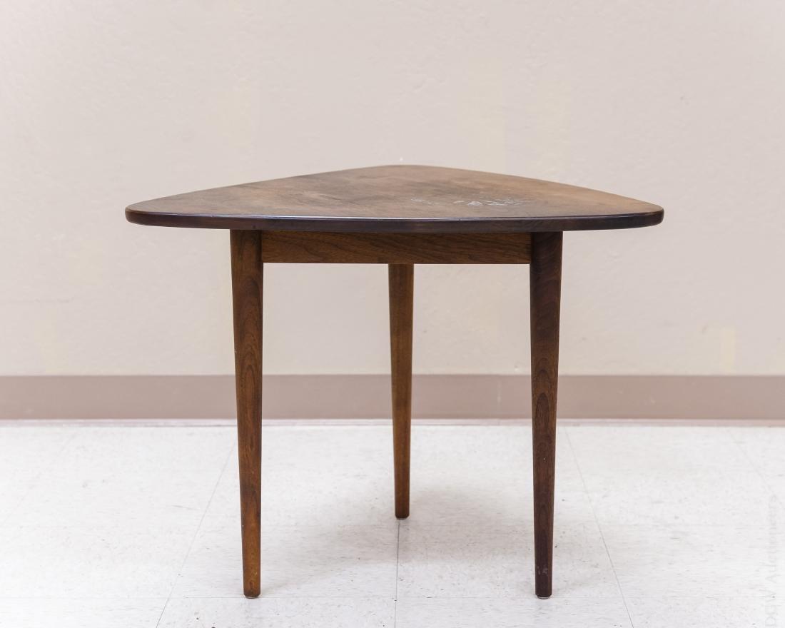 Jens Risom Design Walnut Side Table. - 3