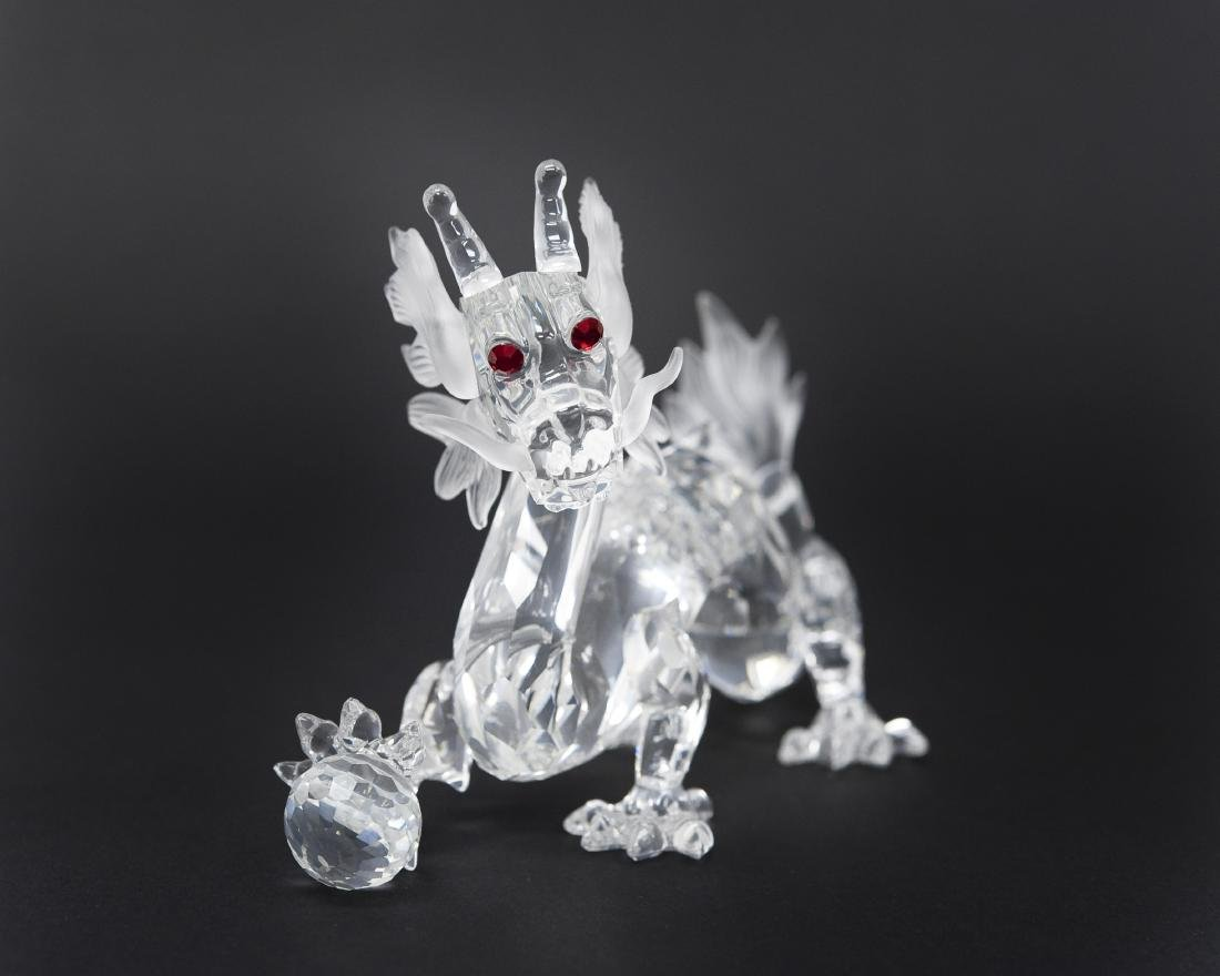 (2) Swarovski Crystal Dragon Figures. - 2