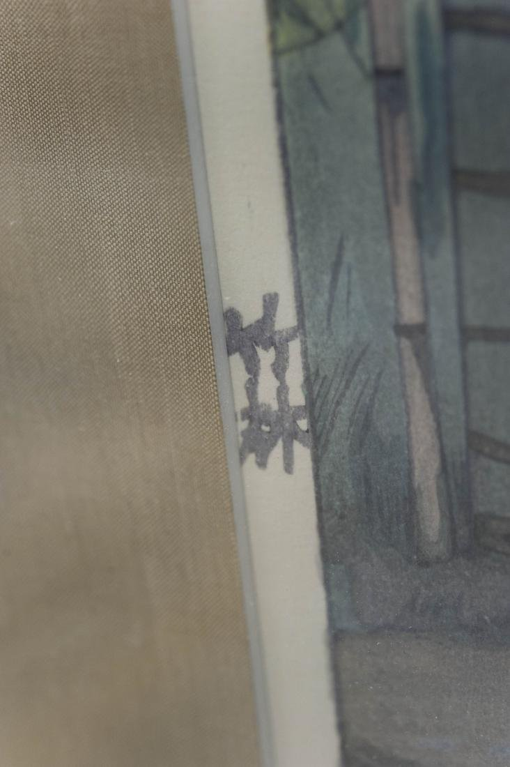 "Hiroshi Yoshida Wood Block Print, ""Bamboo Wood"". - 4"