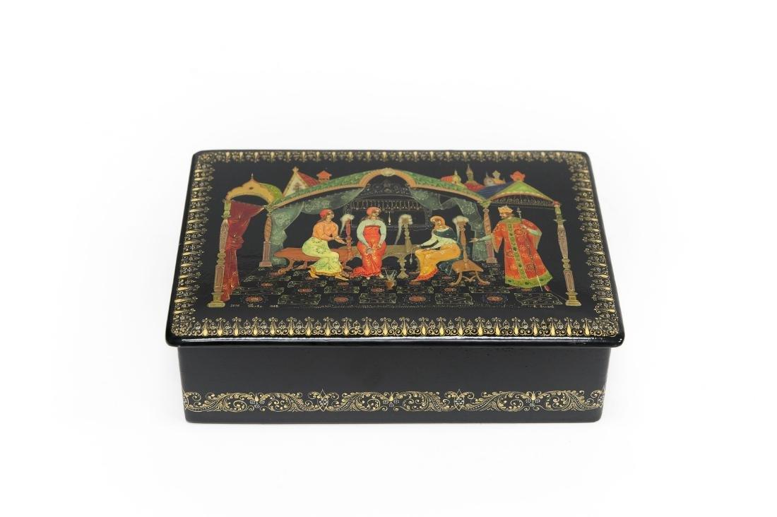 Volkov Palekh Russian Lacquer Box.