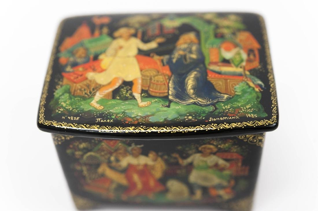 (3) Palekh Russian Lacquer Boxes. - 6