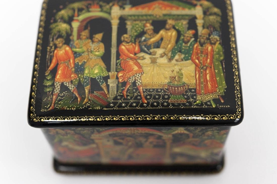 (3) Palekh Russian Lacquer Boxes. - 7