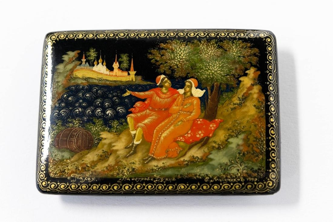 (3) Palekh Russian Lacquer Boxes. - 8