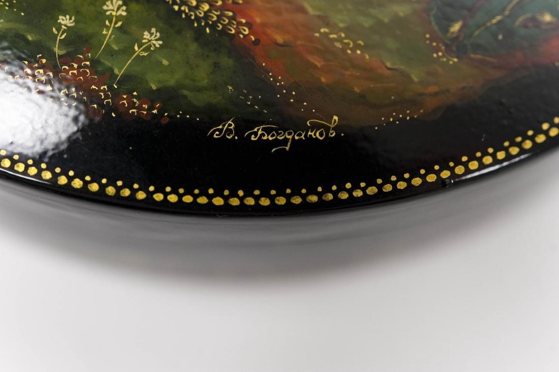 Bogdanov Palekh Russian Lacquer Box. - 7