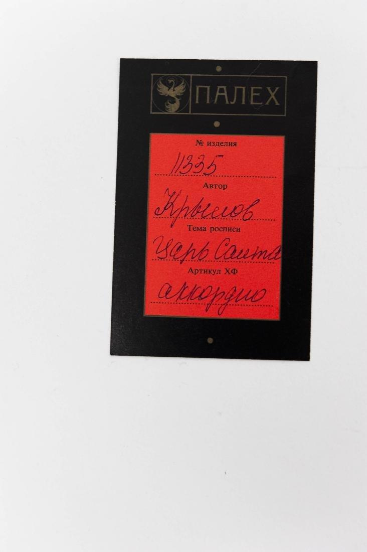 Krylov Palekh Russian Lacquer Box. - 8