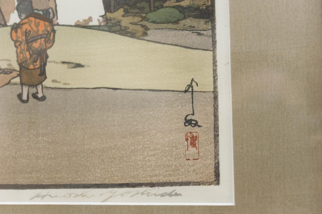 "Hiroshi Yoshida Wood Block Print, ""Cherry Tree in - 4"