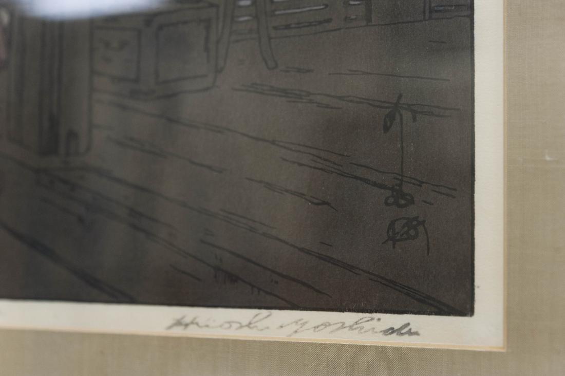 """Hiroshi Yoshida Wood Block Print, """"Nigatsudo Temple"""". - 5"""