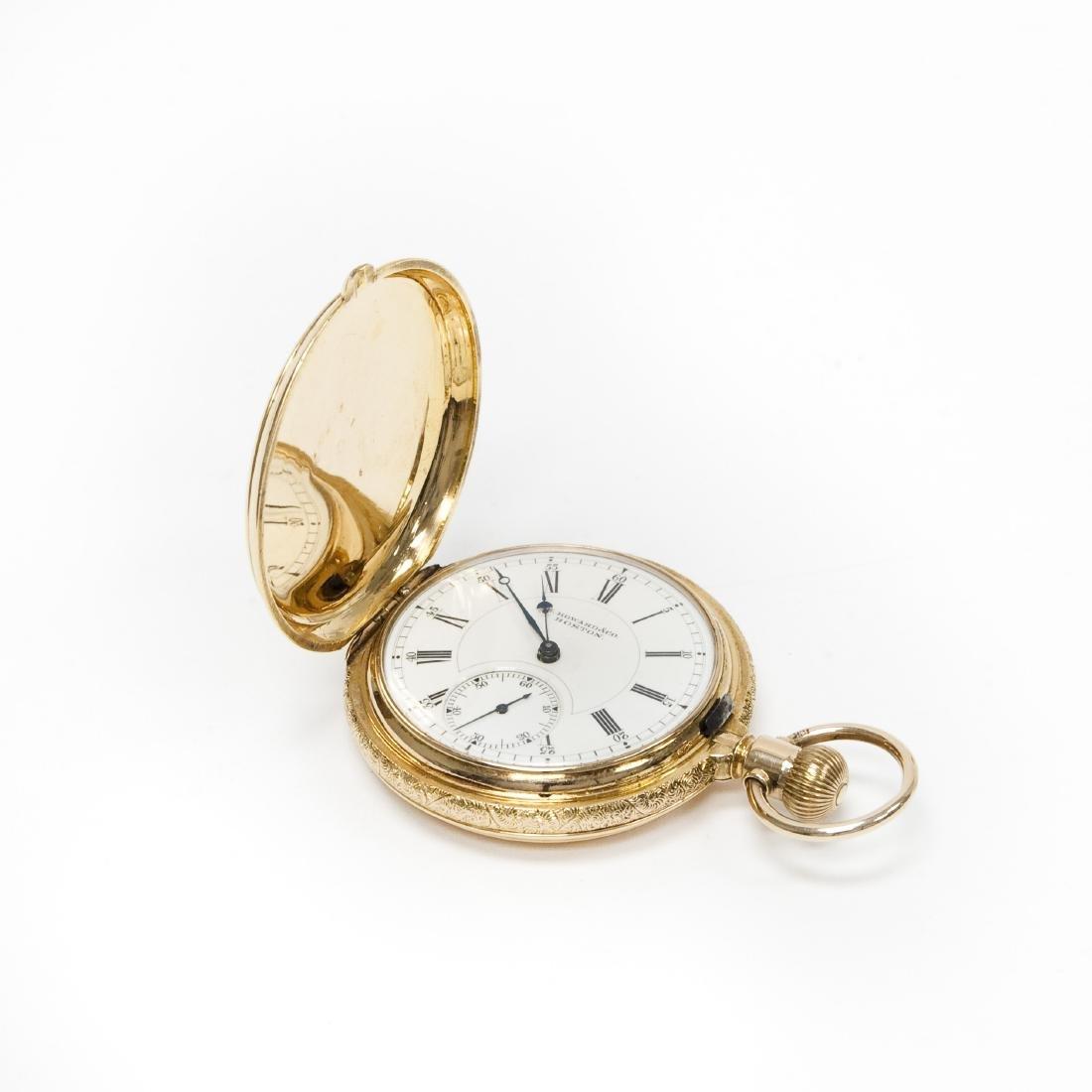 E. Howard & Co.18k Gold Hunter Case Watch.