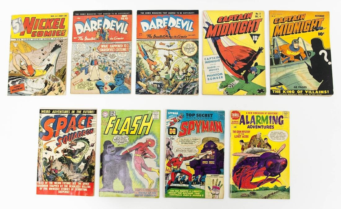 (9) Vintage Comic Books.