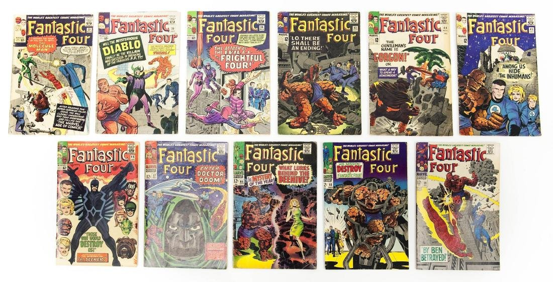 (11) Fantastic Four Comic Books (12c).