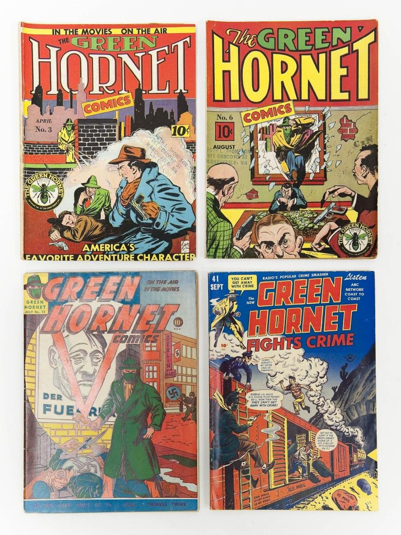 (4) Green Hornet Comic Books, (10c).