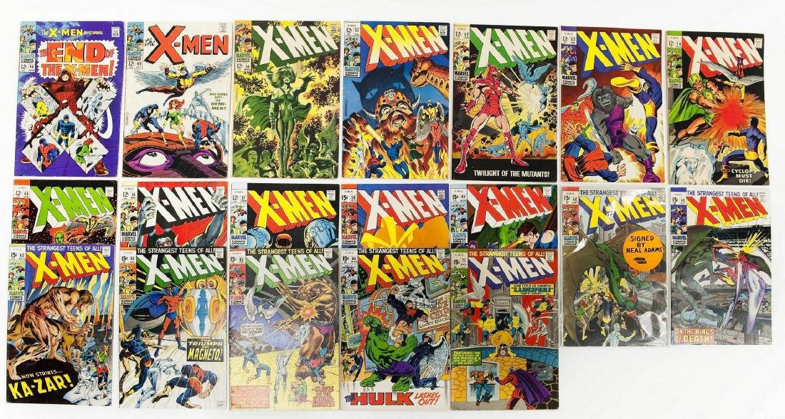 (19) Marvel X-Men Comics.