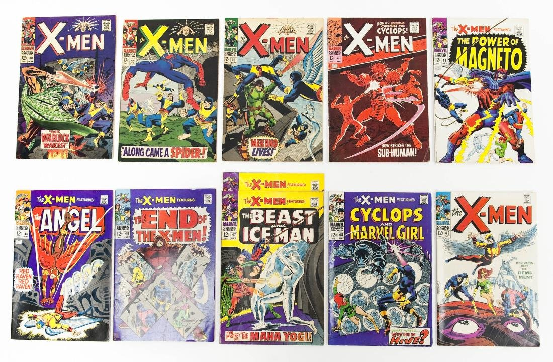 (11) Marvel X-Men Comics.