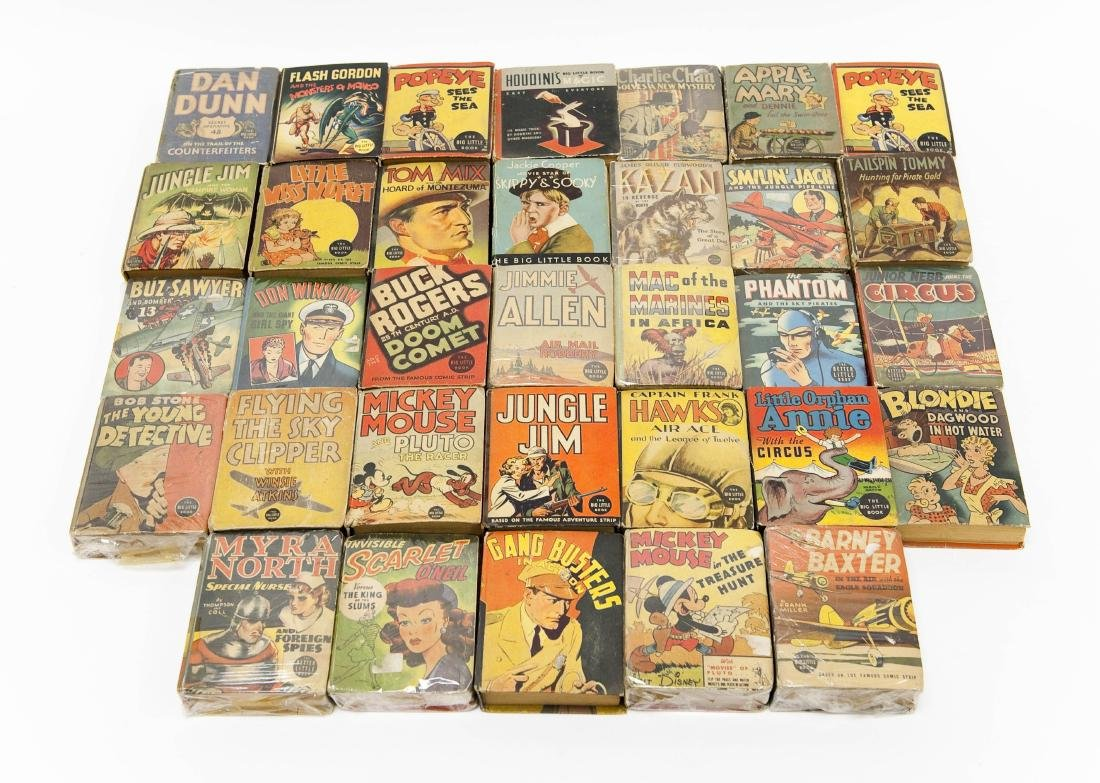(33) Vintage Big Little Books.